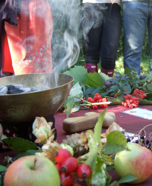 autumn equinox celebration altar