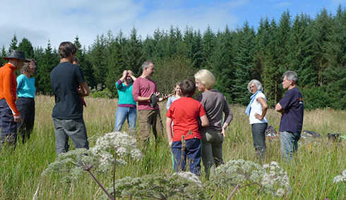 Super Senses workshop in Hafren Forest