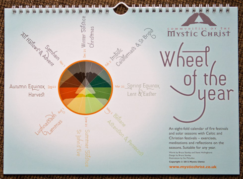 mystic christ wheel of the year calendar cover