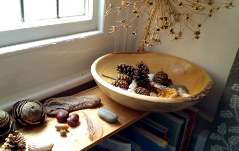 nature table activity for children